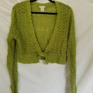 Worthington Cropped Cardigan Knit Plus Size XL